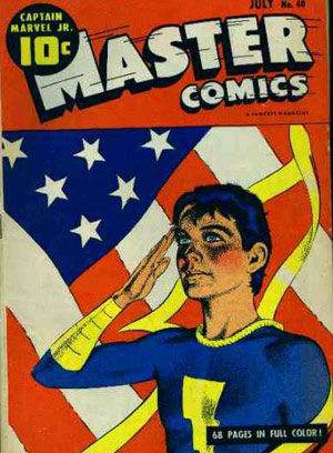 Master Comics 40 Flag Cover