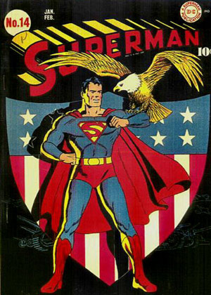 Superman 14 Patriotic Flag Comic Book Cover