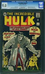 Incredible Hulk CGC 9 Sale