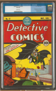 Detective Comics CGC 8.0 graded early in the company's history.